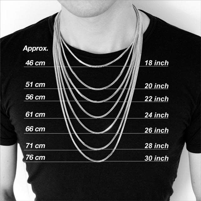 size guide necklace